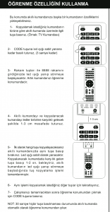Wicom W43 Akıllı Kumanda Öğrenme Özelliği
