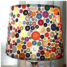 Düğmelerle abajur tasarımı