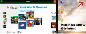 Windows 8 Yeni ve Eski Görünümü Aynı Anda Kullanmak