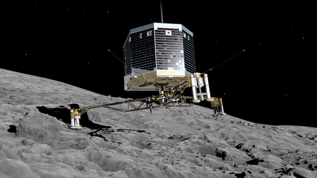 Philae-lander-che-atterra-sulla-cometa